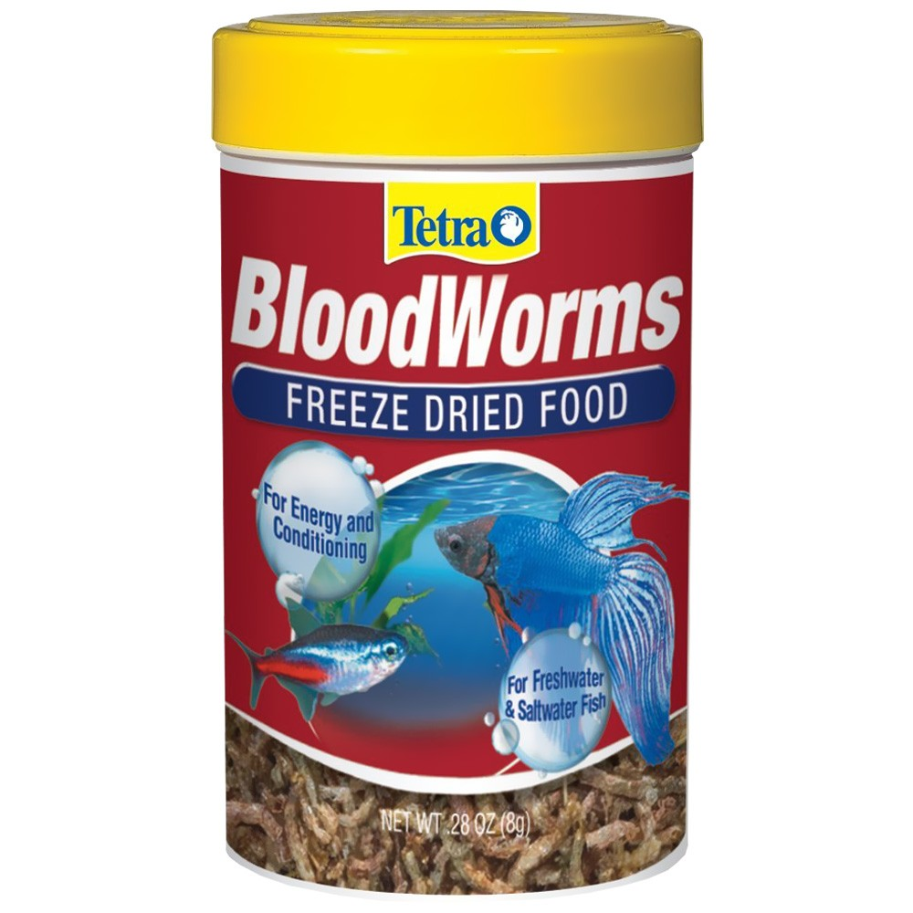 Tetra Bloodworms Freeze Dried Food (0.28 oz)