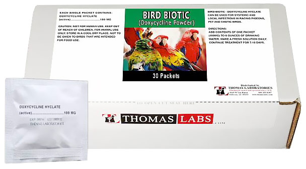 Thomas Labs Bird Biotic 100mg - Doxycycline Powder (30 packets)