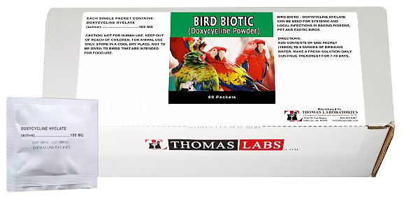 Thomas Labs Bird Biotic 100mg - Doxycycline Powder (60 packets)