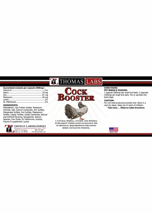 Thomas Labs Cockbooster (100 count)