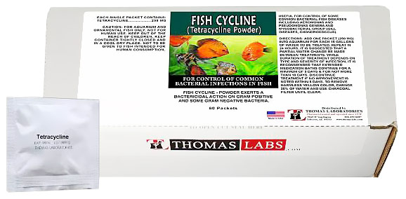 Thomas Labs Fish Cycline 250mg - Tetracycline Powder (60 packets)