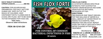 Thomas Labs Fish Flox Forte 500mg - Ciprofloxacin (30 tablets)