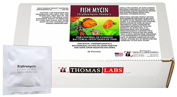 Thomas Labs Fish Mycin 250mg - Erythromycin Powder (30 packets)