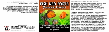 Thomas Labs Fish Neo Forte - Neomycin Powder (50 grams)