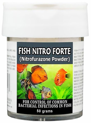Thomas Labs Fish Nitro Forte - Nitrofurazone Powder (50 grams)