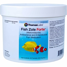 Thomas Labs Fish Zole Forte 500mg - Metronidazole Powder (60 packets)