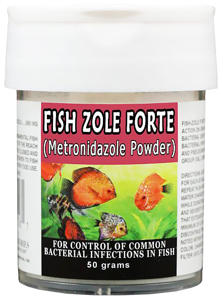 Thomas Labs Fish Zole Forte - Metronidazole Powder (50 grams)