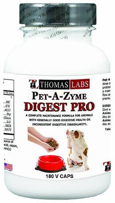 Thomas Labs Pet-A-Zyme Digest (180 vcaps)