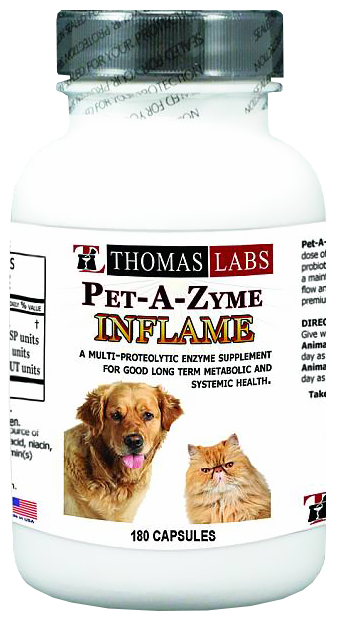 Thomas Labs Pet-A-Zyme Inflame (180 capsules)