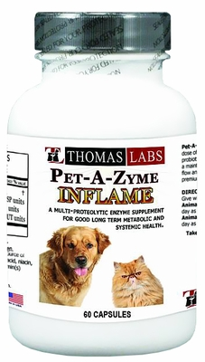 Thomas Labs Pet-A-Zyme Inflame (60 capsules)