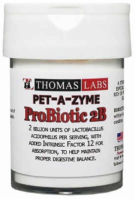 Thomas Labs Pet-A-Zyme Probiotic 2B (120 count)