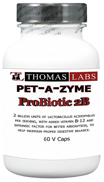 Thomas Labs Pet-A-Zyme Probiotic 2B (60 vcaps)