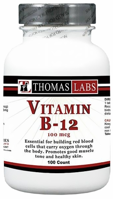 Thomas Labs Vitamin B-12 100mcg (100 count)