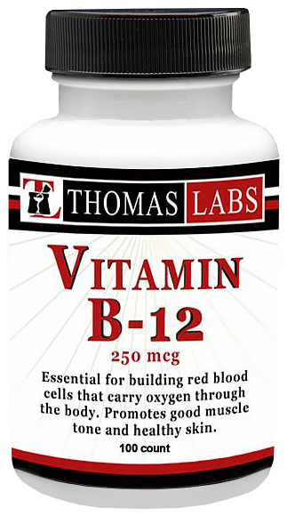 Thomas Labs Vitamin B-12 250mcg (100 count)