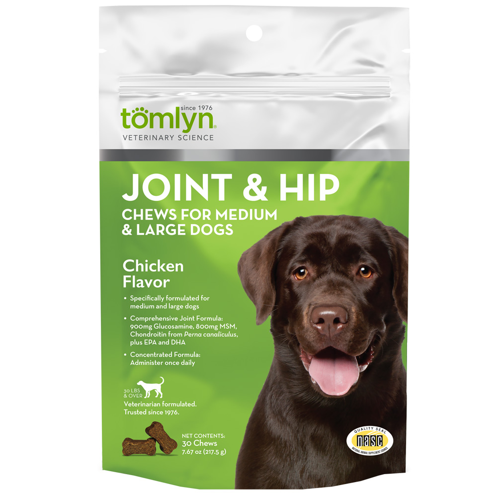 Tomlyn Joint & Hip Chews for Medium & Large Dogs (30 count)