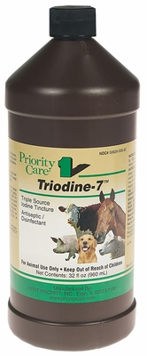 Triodine-7 Triple Source Iodine Tincture (32 oz)