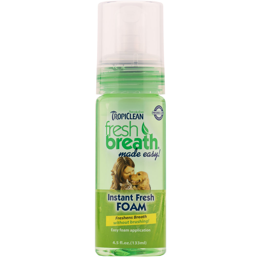 Tropiclean Fresh Breath Instant Fresh Foam (4.5 oz)