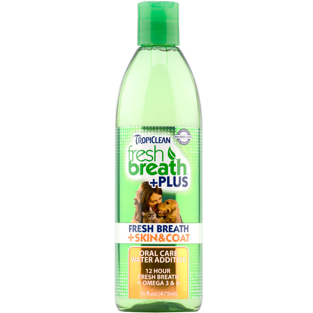 Tropiclean® Fresh Breath Plus Skin & Coat Water Additive (16 fl oz)