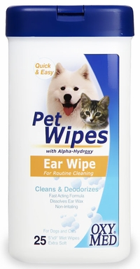 Tropiclean Oxy Med Pet Wipes Ear Wipe (25 ct)