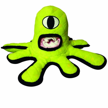 Tuffy's Alien Series Green Alien Dog Toy