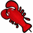 Tuffy's Sea Creatures Larry Lobster Dog Toy