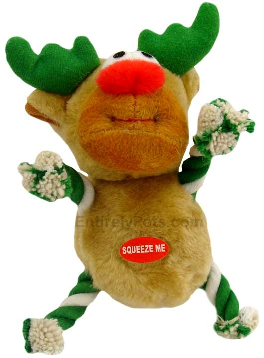 Tug-a-Reindeer 7 in - DARK GREEN/WHITE