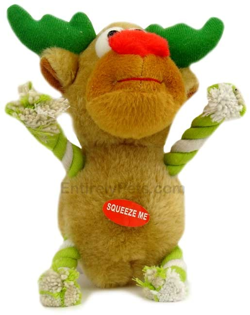 Tug-a-Reindeer 7 in - LIGHT GREEN/WHITE