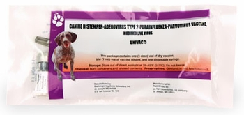 Univac 5 Canine Cough Vaccine (1 ml dose)
