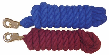 "Valhoma Lead Cotton 3/4"" x 10' Rope w/ Bolt Snap"