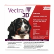Vectra 3D RED for Dogs over 95 lbs - 3 Doses