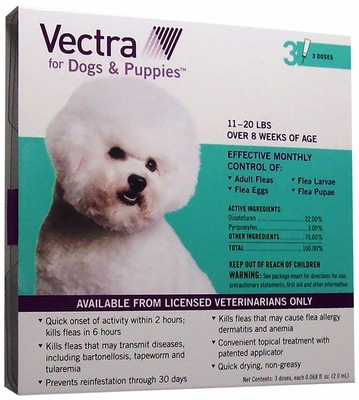 Vectra for Dogs 11 to 20 lbs - 3 Doses