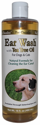Vet Classics Ear Wash with Tea Tree Oil (16 oz)