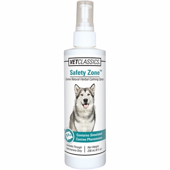 Vet Classics Safety Zone Natural Herbal Calming Dog Spray (8 oz)