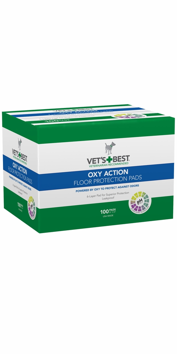 "Vet's Best® OXY ACTION Floor Protection Pads 22"" x 22"" (100 pads)"