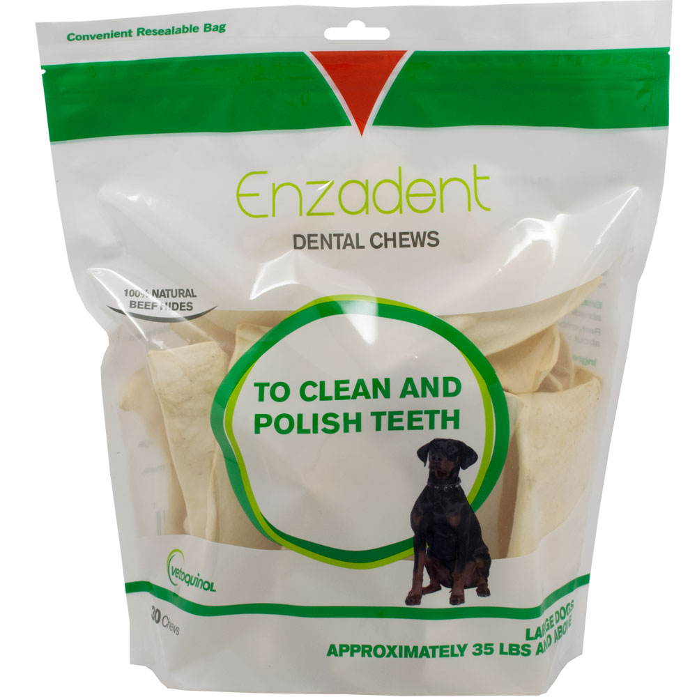 Vet Solutions Enzadent Oral Care Chews for Dogs - LARGE