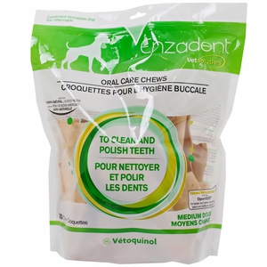 Vet Solutions Enzadent Oral Care Chews for Dogs (MEDIUM)
