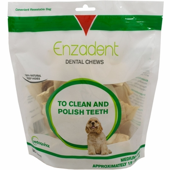 Vet Solutions Enzadent Oral Care Chews for Dogs - MEDIUM