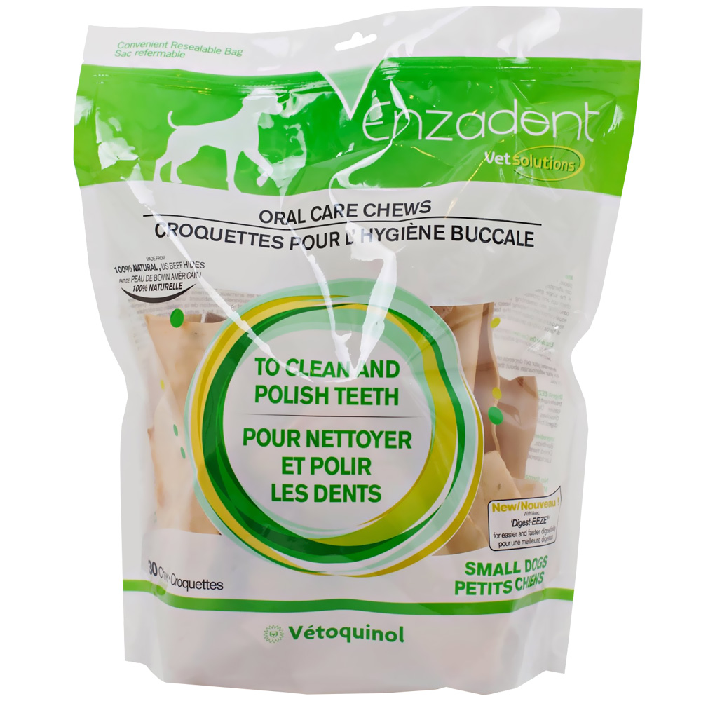 Vet Solutions Enzadent Oral Care Chews for Dogs - SMALL