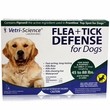 Vetri-Science Flea + Tick Defense for Dogs and Puppies 45 to 88 lbs - 3 Doses