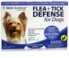 Vetri-Science Flea + Tick Defense for Dogs and Puppies up to 22 lbs - 3 Doses