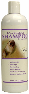 Vitality Medicated Shampoo for Dogs & Cats (16 oz)