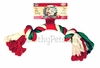 Vo-Toys Holiday Cotton Rope Bone - 10""