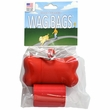 Wag Bags Dispenser Bone - RED (30 Bags)