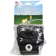 Wag Bags Dispenser Skull & Cross Bones - BLACK (30 Bags)