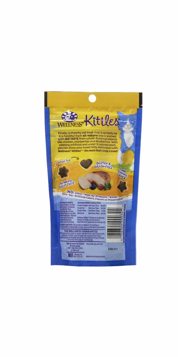 Wellness® Kittles Chicken & Cranberries Cat Treats (2 oz)