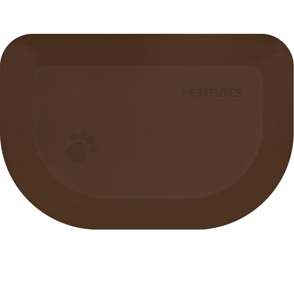 "Wellness Rounded PetMat - Brown Bark (X-Small 18""x12"")"