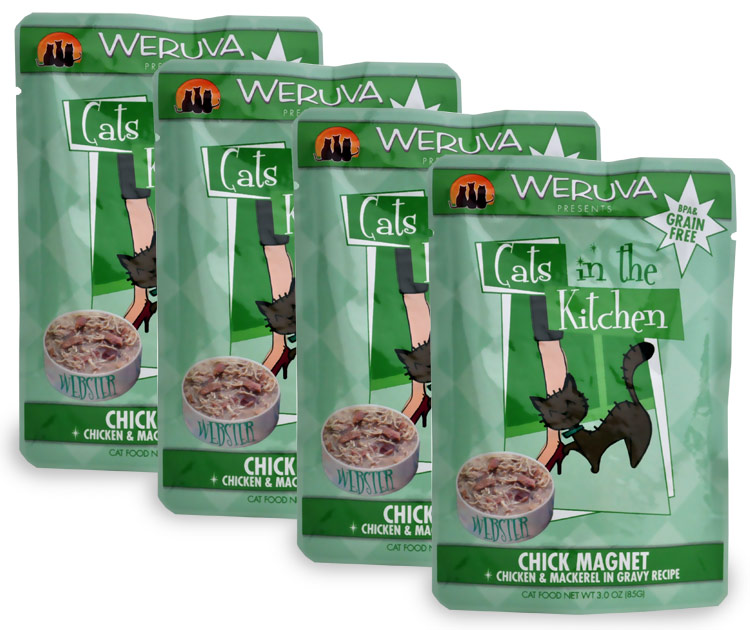 Weruva Cats in the Kitchen Pouch-Chick Magnet 4-Pack (12 oz)
