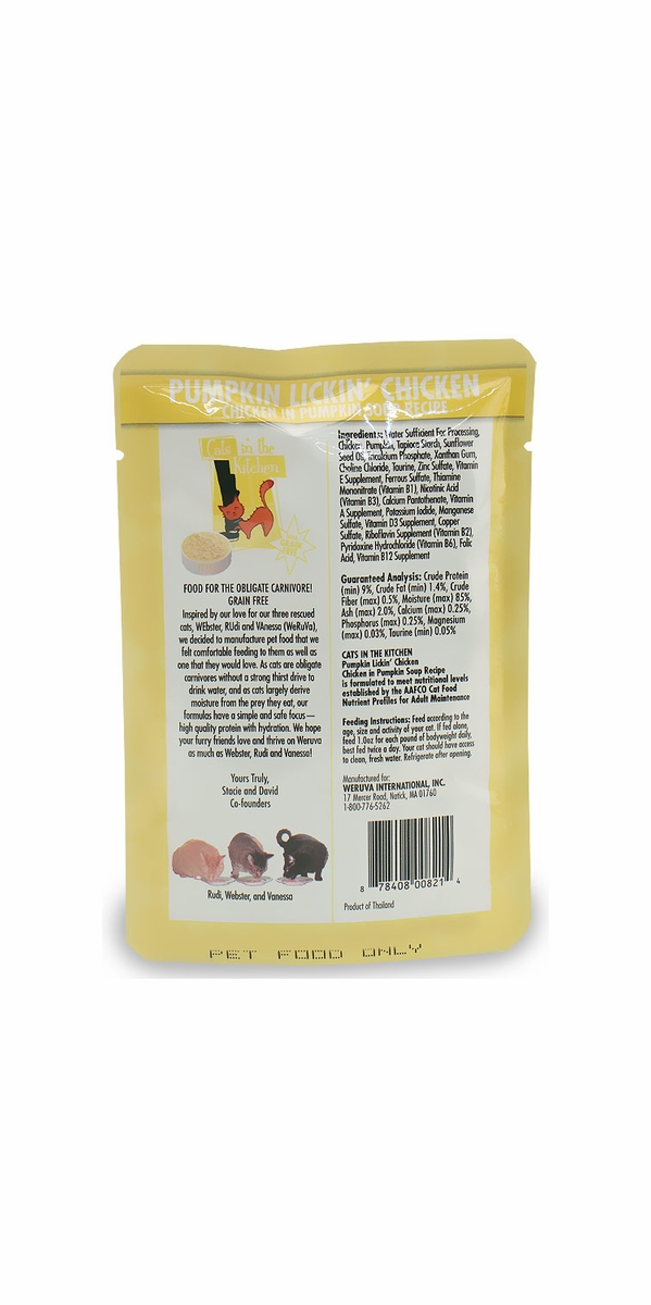 Weruva Cats in the Kitchen Pouch-Pumpkin Lickin Chicken Box 4-PACK (12 oz)