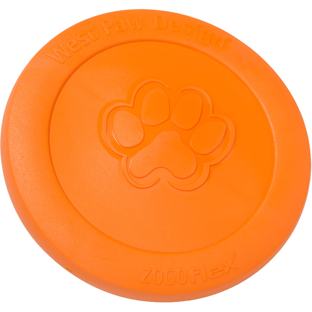 West Paw Zisc Tough Dog Chew Toy - Tangerine (Large)