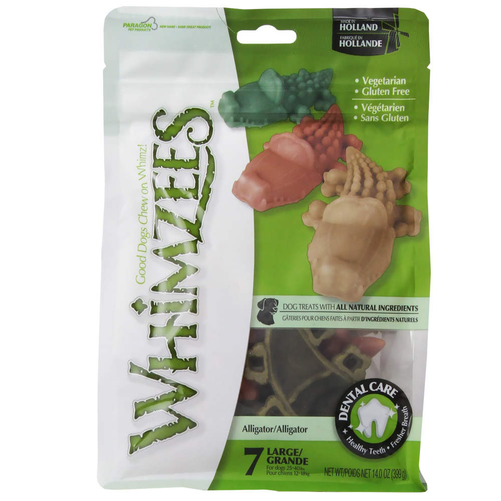 Whimzees Alligator Dental Dog Treats - Large (7 count)